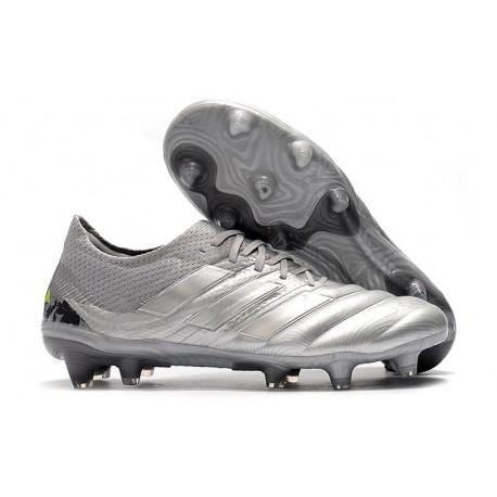 Adidas COPA 20.1 FG Botas de Futbol Cesped ARTIFICIAL Silver Amarillo