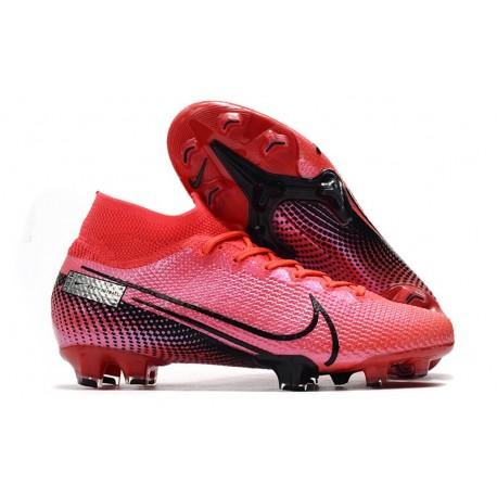 Nike Zapatillas Mercurial Superfly VII Elite FG Láser Crimson Negro