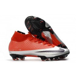 Nike Future DNA Mercurial Superfly VII Elite FG Rojo Plata Negro