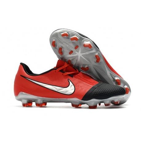 Botas de Futbol Nike Phantom Vnm Elite FG Láser Crimson Plata Negro