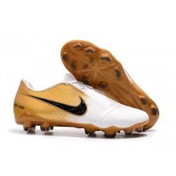 Botas de Futbol Nike Phantom Vnm Elite FG Oro Bianco Negro