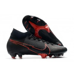 Botas Nike Mercurial Superfly 7 Elite DF FG Negro Rojo