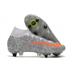 Nike Mercurial-Superfly 7 Elite SG-PRO AC CR7 Blanco Total Naranja Negro
