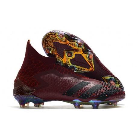 adidas Botas de fútbol Predator Mutator 20+ FG Rojo Negro