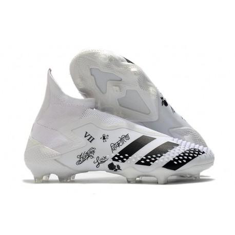adidas Botas de fútbol Predator Mutator 20+ FG Blanco Negro