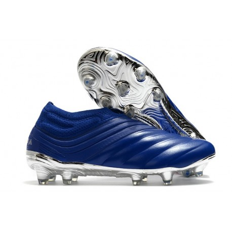Zapatillas de Futbol adidas Copa 20+ FG Azul Royal Plateado metalizado