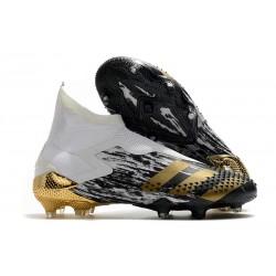 adidas Botas de fútbol Predator Mutator 20+ FG Blanco Dorado metalizado Negro