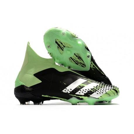 adidas Botas de fútbol Predator Mutator 20+ FG Negro Verde Plata