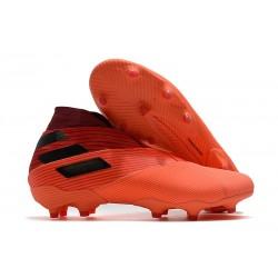 adidas Zapatos de Fútbol Nemeziz 19+ FG - Signal Coral Negro Rojo Gloria