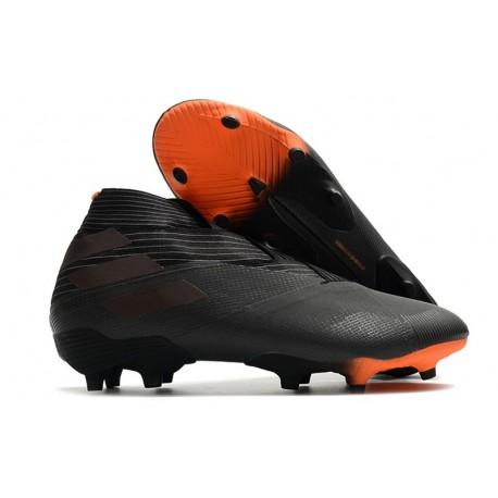 adidas Zapatos de Fútbol Nemeziz 19+ FG - Negro Naranja Señal
