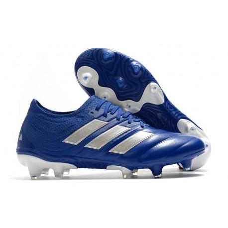 Adidas COPA 20.1 FG Botas de Futbol Azul Royal Plateado metalizado