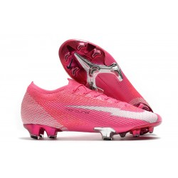 Nike Mercurial Vapor 13 Elite FG Mbappé Rosa - Pink Blast White Black