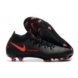 Botas de Fútbol Nike Phantom GT Elite FG Negro Rojo Chile Gris humo