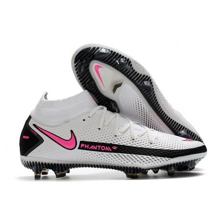 Botas de Fútbol Nike Phantom GT Elite FG Blanco Rosa Negro