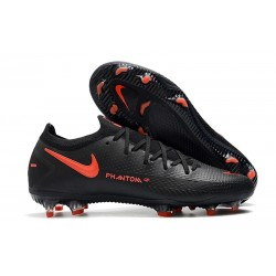Botas de Fútbol Nike Phantom GT Elite FG Negro Rojo Chile Gris