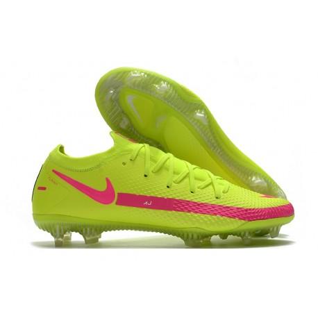 Botas de Fútbol Nike Phantom GT Elite FG Brasil Amarillo Rosa