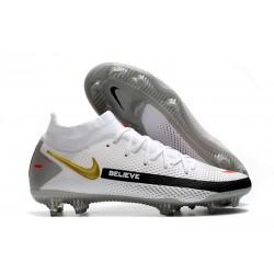 Botas de Fútbol Nike Phantom GT Elite FG Blanco Negro Rojo Oro